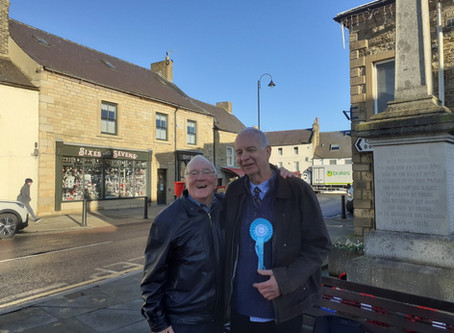 The sun was out in Stanhope and Wolsingham and so was the Brexit Party
