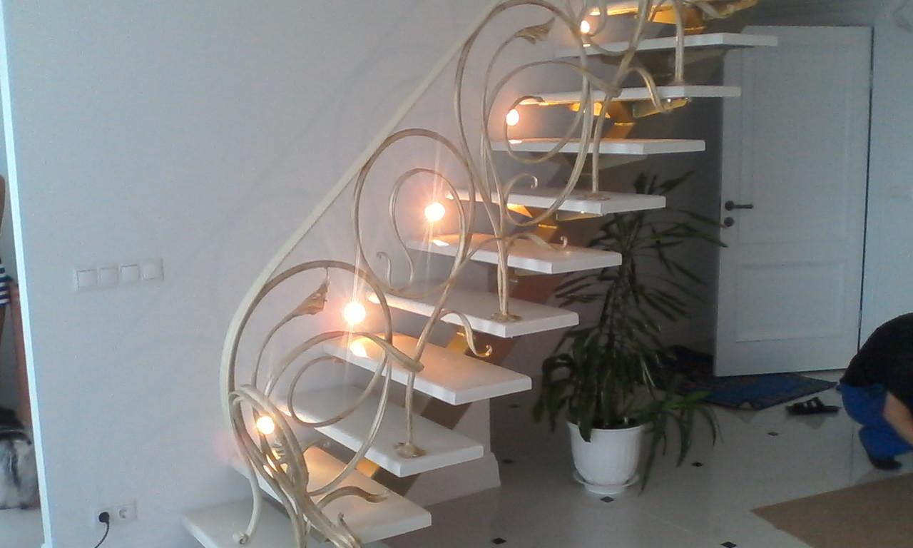 лестница, воздушная ковка