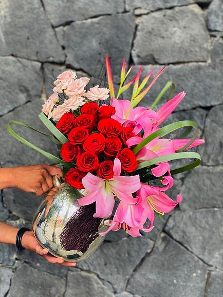 Rosas, Acapulco, mini rosas, heliconia golden