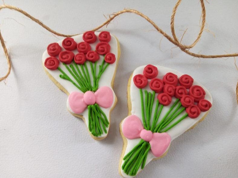 Galleta Ramo de rosas