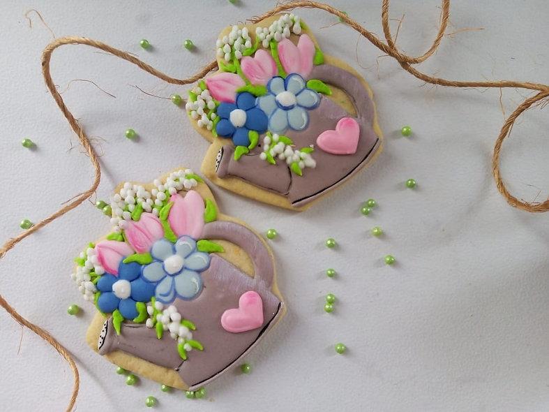 Galleta Jarrón Flores Azules