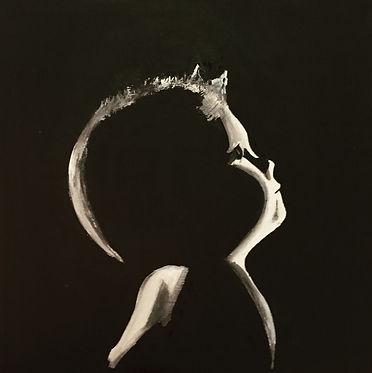 Анна Коваль, художник Анна Коваль; малыш; ребенок; силуэт ребенка; малыш картины