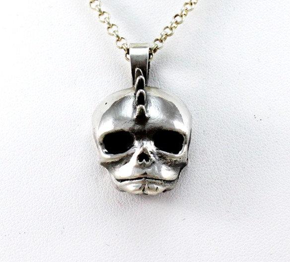 """Fetal Skull """"Spike"""" Pendant"""