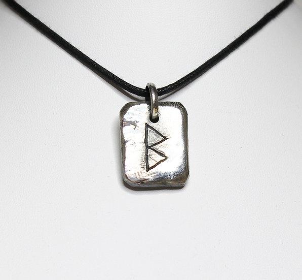 Berkan – Birch Tree Rune Pendant