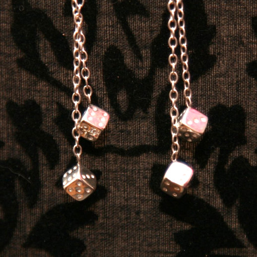 Dice Chain Earrings