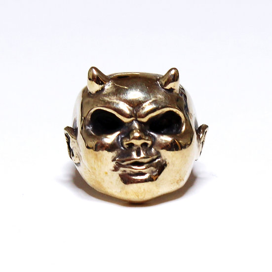 The I'm No Saint Ring Vintage Brass Edition
