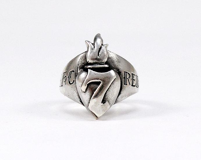 Lucky 7 Sacred Heart Ring
