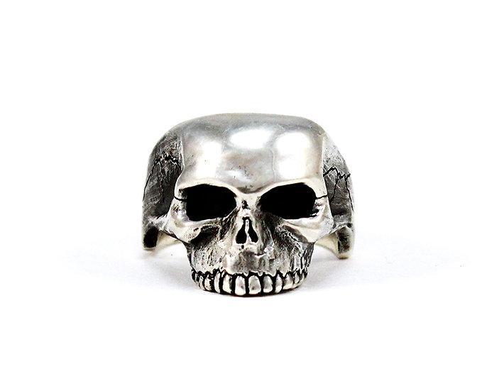 Small Half Skull Ring