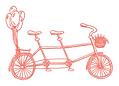 tri-seat bicycle