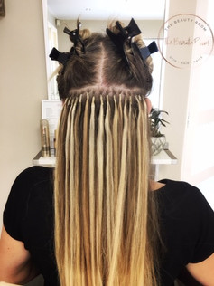 Hairextensions tijdens