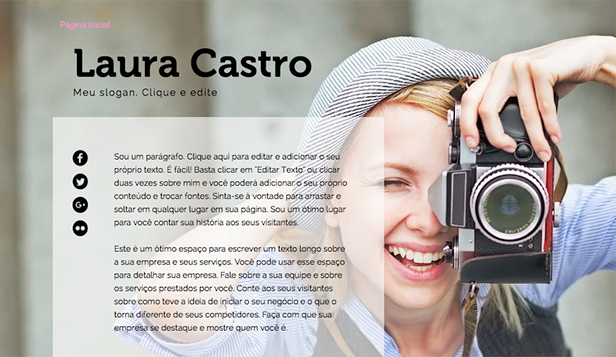 Currículo website templates –  Biografia