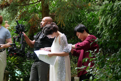 """Filming """"In the Garden of Thoughts"""" with Magus Muse Company Photo by Jason Lozada"""