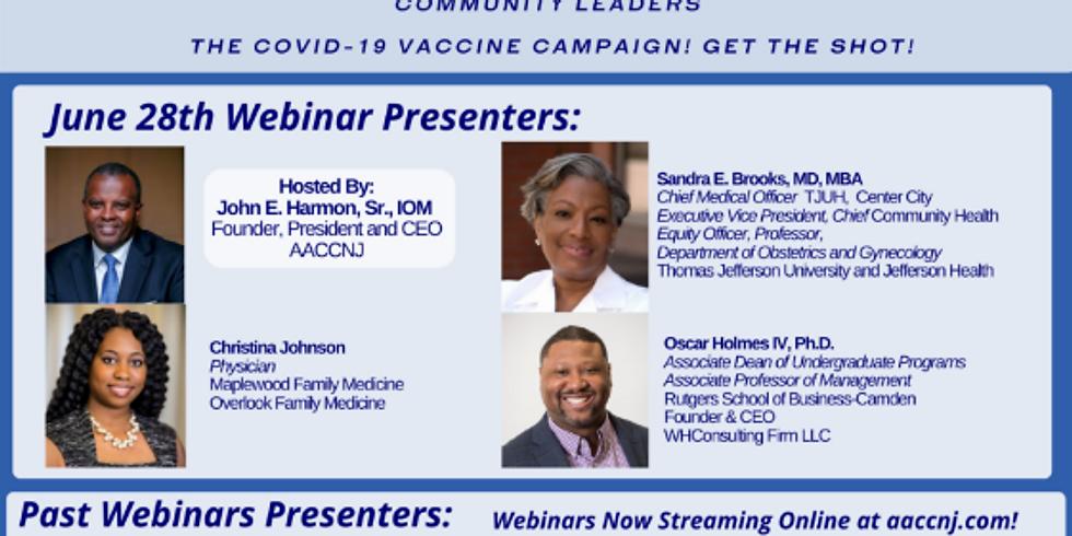 AACCNJ Covid-19 Vaccine: Informational Health Webinar Series