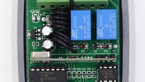Receptor Universal 822 433 mhz 200 usuario 2 canales