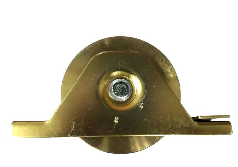 Roldana 120mm  doble rodamiento base empotrar
