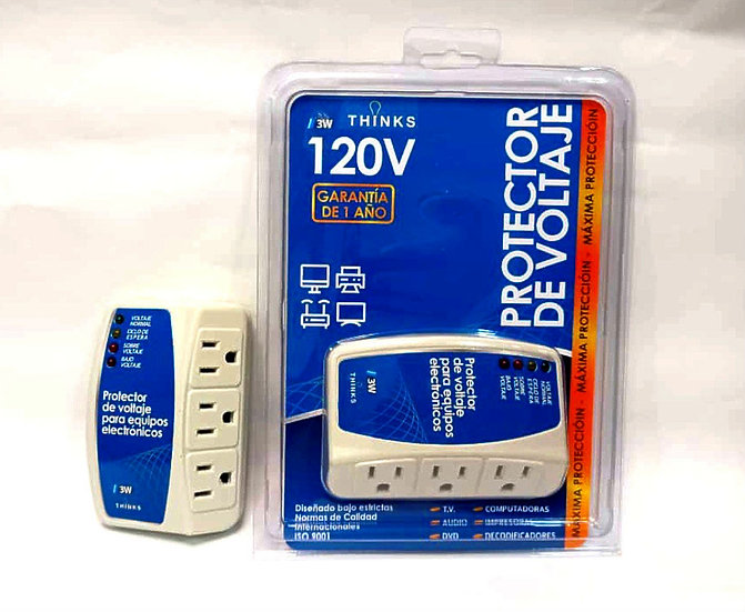 Protector Electrónico 120v 3 Tomas