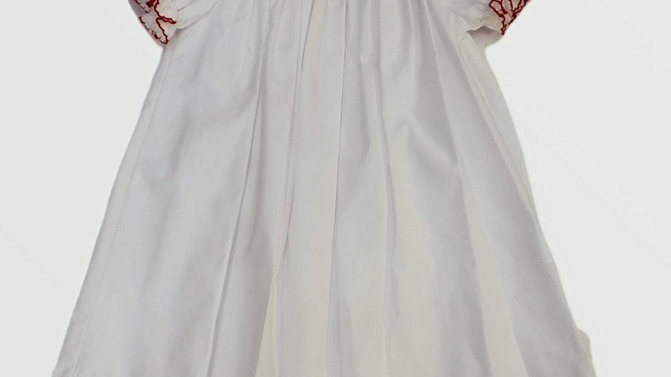 Smocked White Bishop Christmas Dress