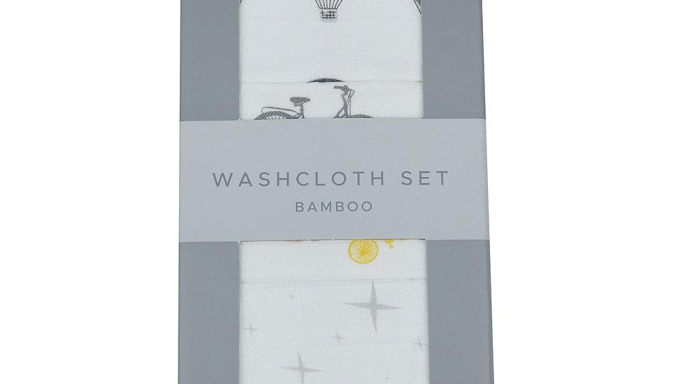 World Traveler Bamboo Washcloth Set 3PK