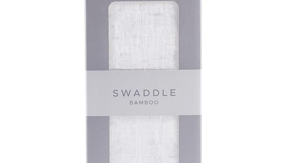 Pure White Cotton Muslin Swaddle