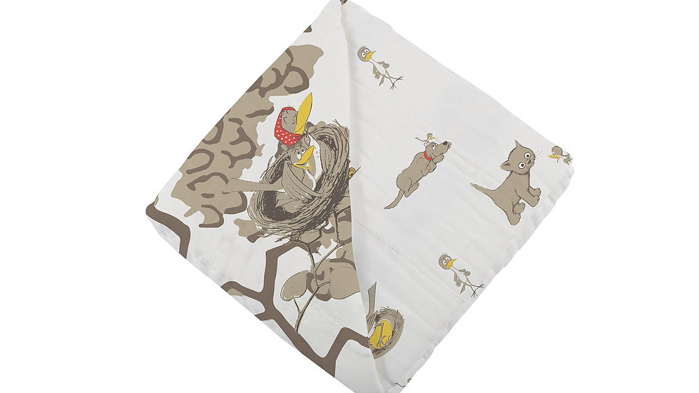 Are You My Mother? Bamboo Muslin Newcastle Blanket
