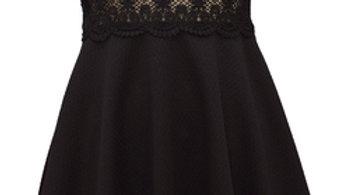 Girls neon black dress