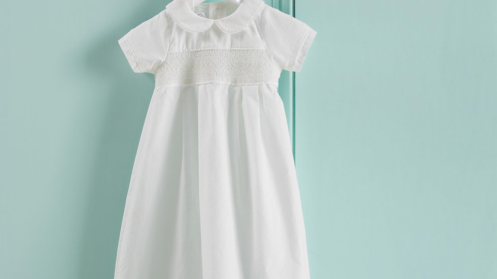 Smocked Christening Gown
