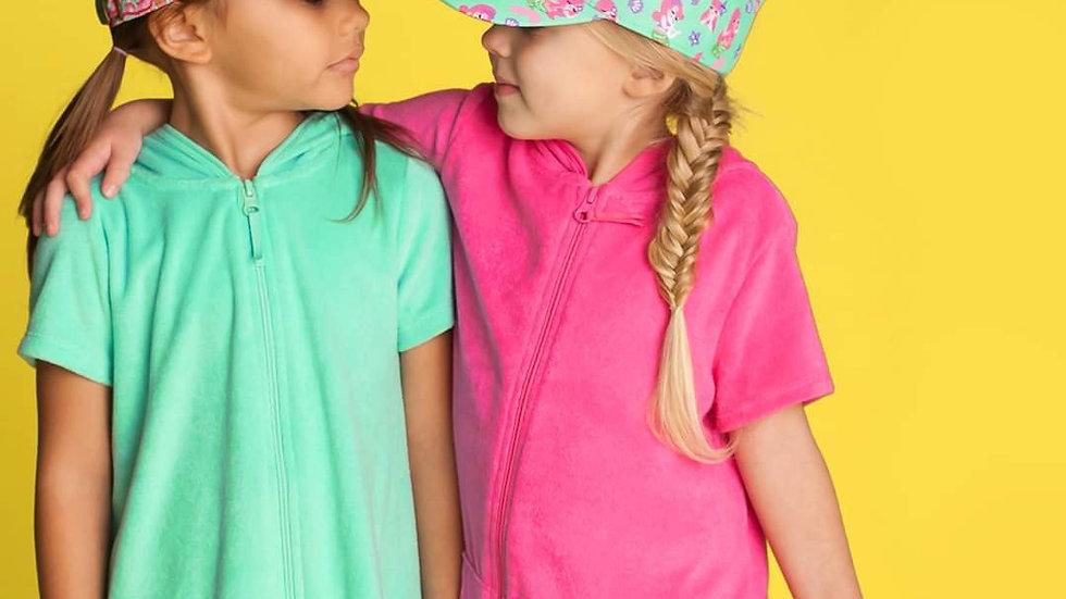 Lizzie Pink Printed Kids Cap