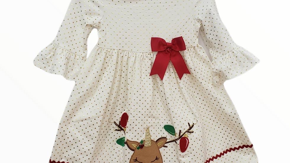 Reindeer Unicorn Dress