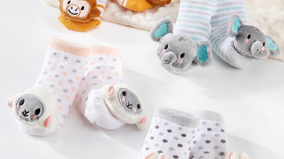 Infant rattle socks