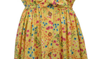 tween girl yellow floral sundress