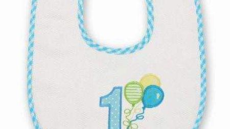 His 1st Birthday Bib Balloon Applique