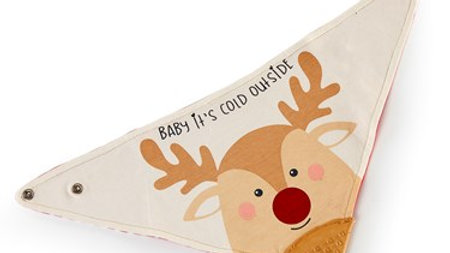 Baby It's Cold Outside Teething Bib