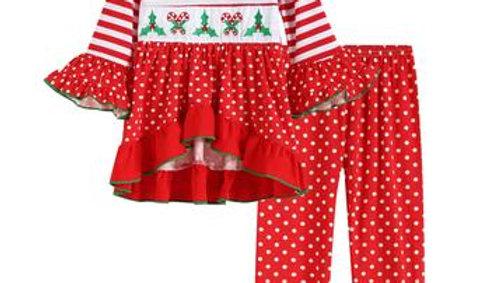 Christmas & Mistletoe Dress with matching Pants