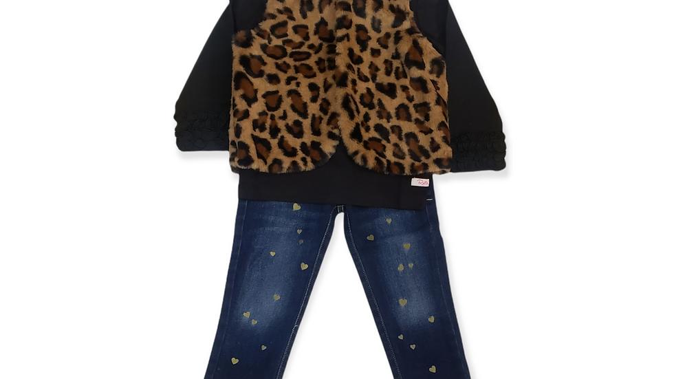 Cartwheels Faux Leopard Vest