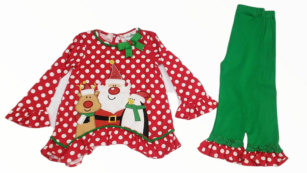 Red Polka Dot Holiday Applique