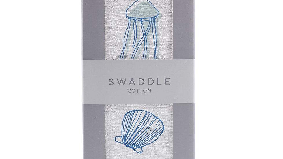Ocean Cotton Swaddle