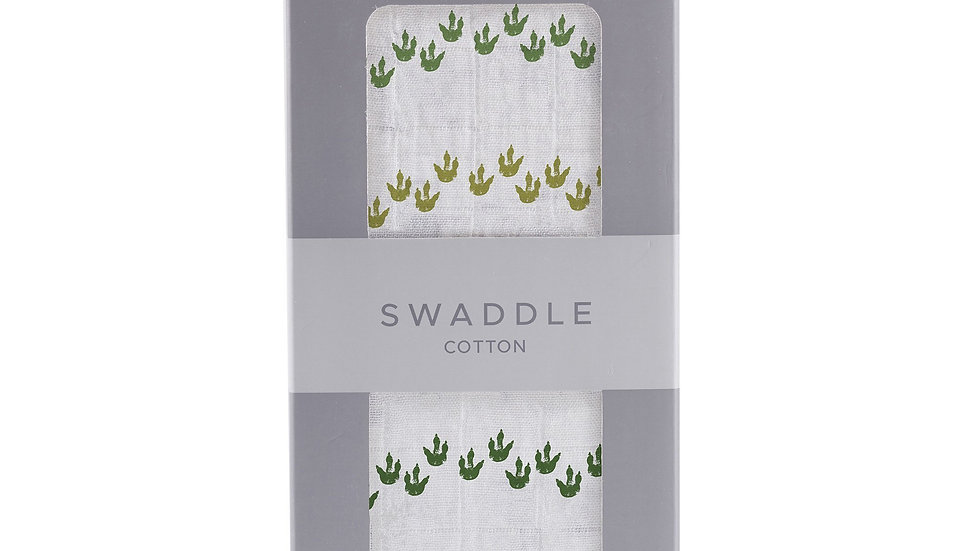 Dino Feet Cotton Muslin Swaddle