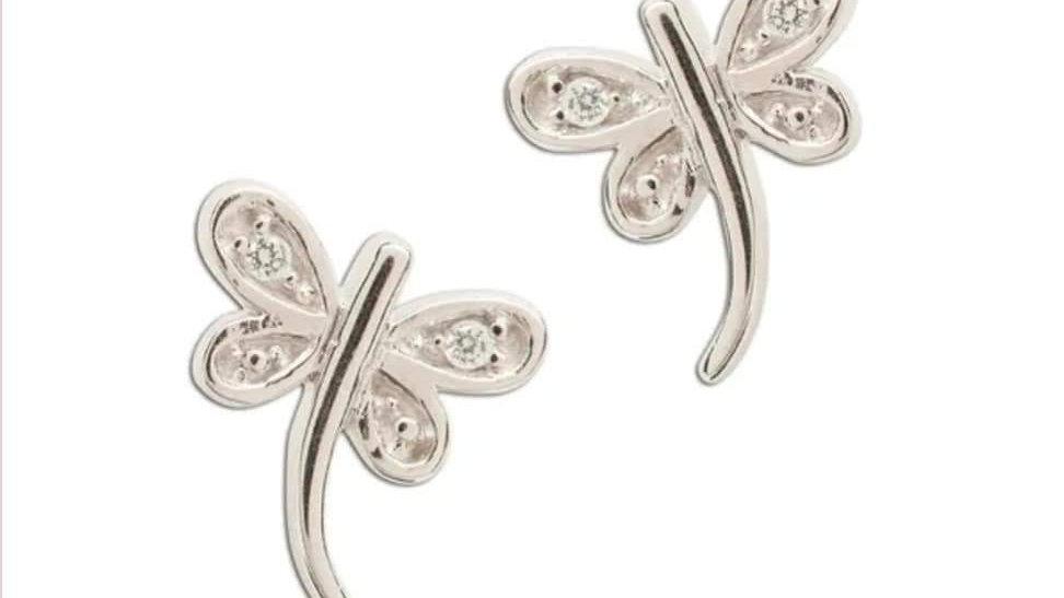 Butterfly Screw Back Earrings