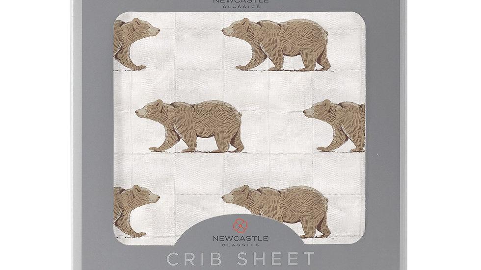 Goodnight Bear Bamboo Crib Sheet
