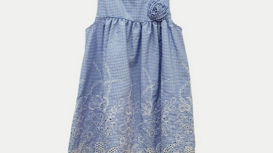Blue Seersucker Dress