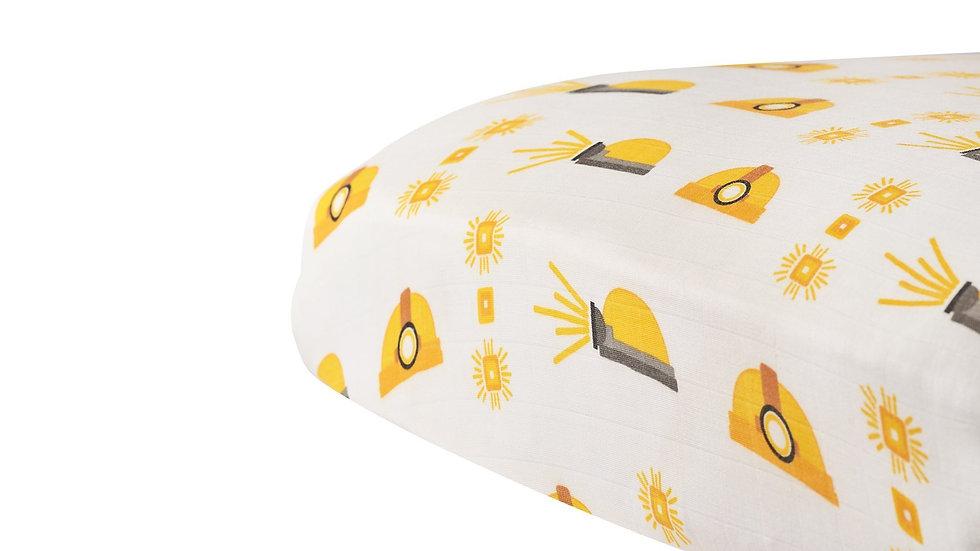 Hard Hat Bamboo Muslin Crib Sheet