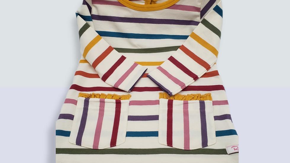 Harvest rainbow Stripe Pocket Dress
