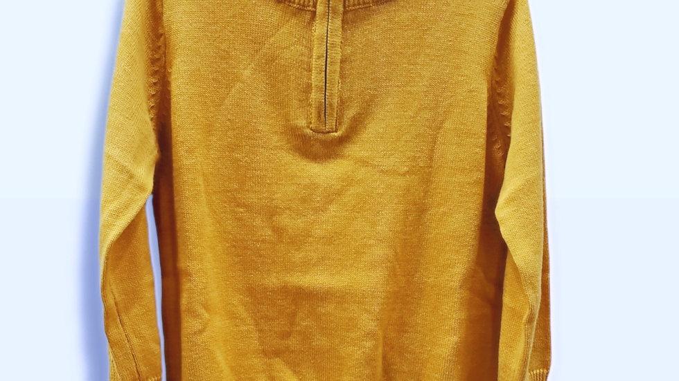 Golden Yellow Quarter Zip Sweater