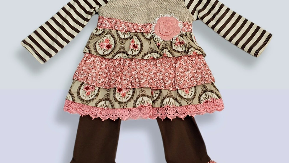 Counting Daisies 2 Piece Gray Sweater Knit Bodice