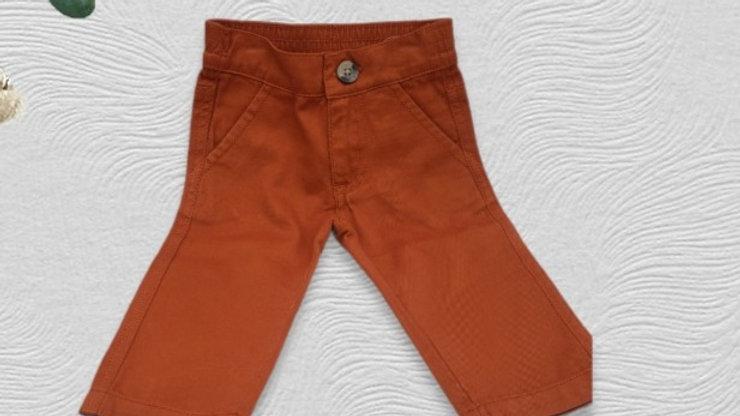 Orange Spice Straight Chino Pants