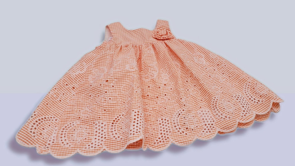 Peach Embroidery Dress