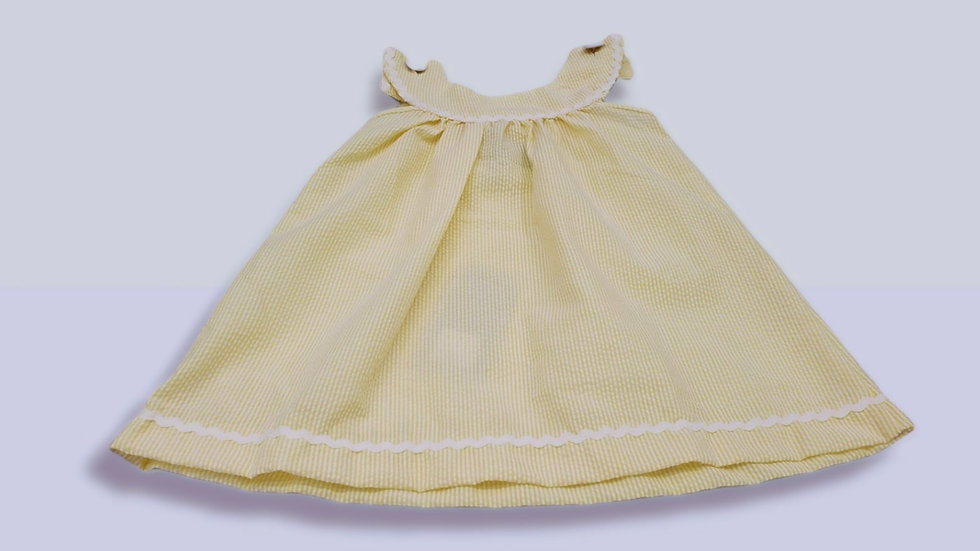 Pastel Yellow Seersucker Dress