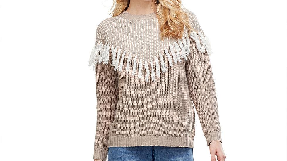 Leo Fringe Sweater