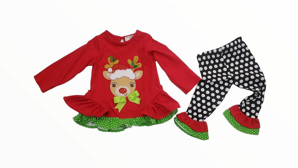Reindeer Polka Dot 2 Piece Set