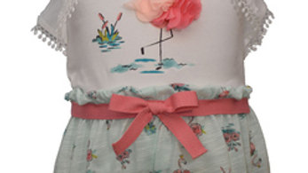 toddler girl flamingo short set